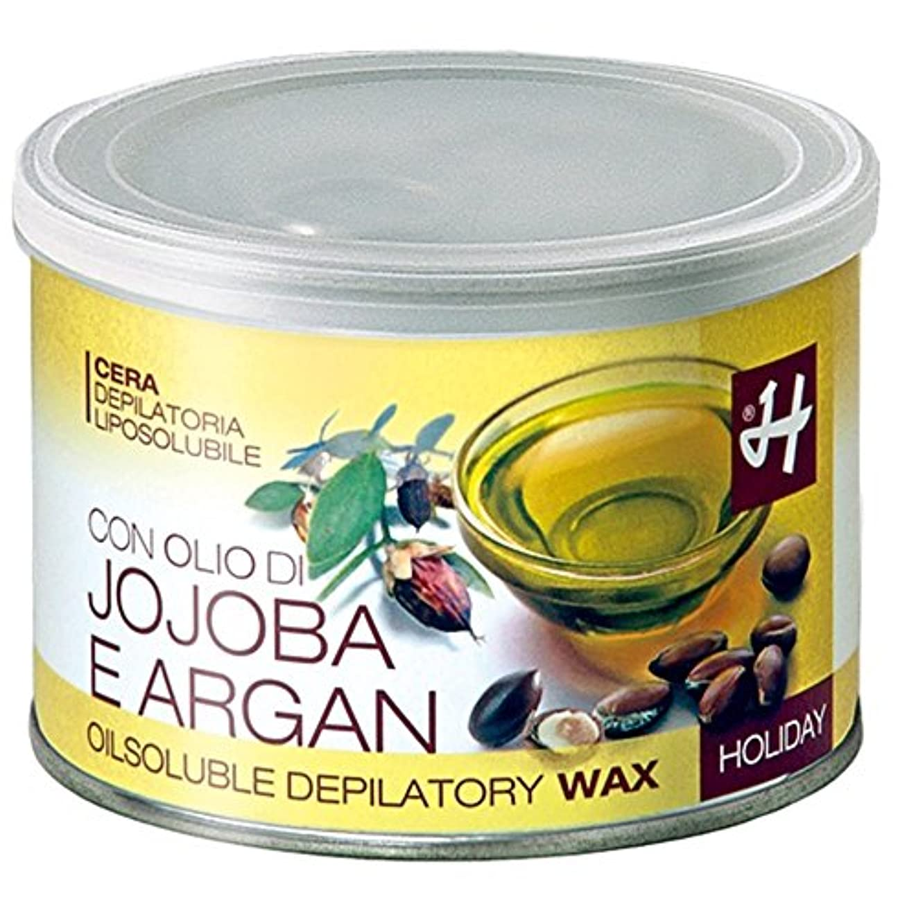 ストラップスロー海賊HOLIDAY JAPAN (ホリデイジャパン) ホホバ&アルガンオイル?エレメンツ ロジンフリーワックス 400ml イタリア製 ブラジリアンワックス WAX