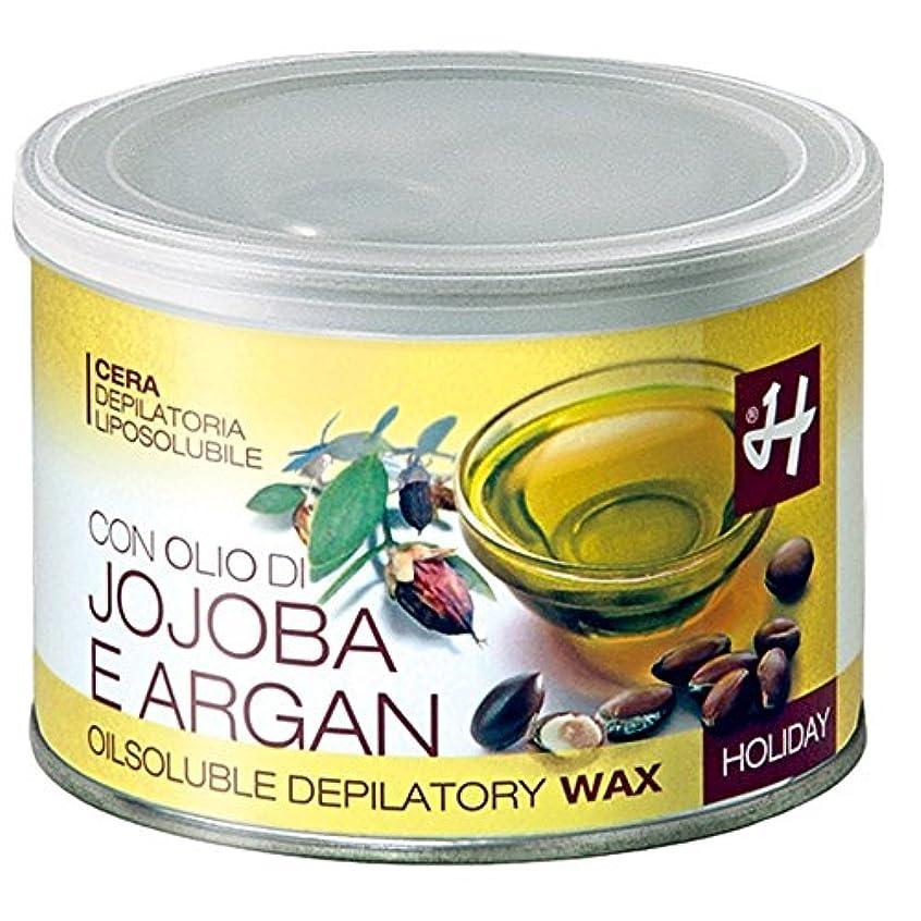 ブラシ飢えテラスHOLIDAY JAPAN (ホリデイジャパン) ホホバ&アルガンオイル?エレメンツ ロジンフリーワックス 400ml イタリア製 ブラジリアンワックス WAX