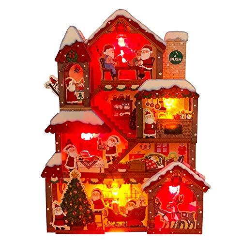 サンリオ クリスマスカード 洋風 ライト&メロディ 大型立体 ポップアップ サンタの家 S7324