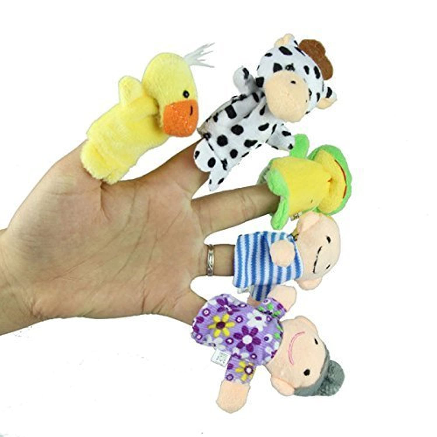 gqmart子供教育おもちゃ10個ベルベット動物とソフト6個PlushファミリPuppets for School shows Playtime Story Time