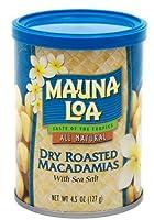 Mauna Loa Macadamias, Dry Roasted with Sea Salt, 4.5-Ounce Containers (Pack of 4) by Mauna Loa
