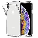 【Spigen】 スマホケース iPhone XS ケース/iPhone X ケース 5.8インチ TPU 全面クリア 超薄型 超軽量 リキッド・クリスタル 057CS22118 (クリスタル ・クリア)