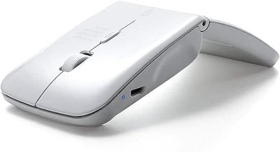 サンワダイレクト Bluetoothマウス 薄型 充電式 マルチペアリング Windows Mac Android対応 IRセンサー 400-MA120W