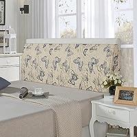 LIANGJUN クッション ベッドサイド 背もたれ枕 三角形 枕 コットン ウォッシャブル 柔らかい 実用的な 読書 残り 壁に貼り付ける ベッドルーム ベッド 背もたれ、 8色 (色 : 7#, サイズ さいず : 180X50X12cm)