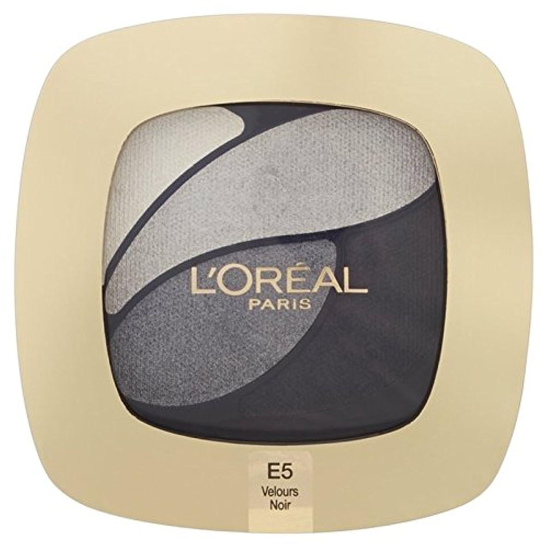 バリケードドループクラシカルL'Oreal Paris Color Riche Quad, E5 Incredible Grey 30g - ロレアルパリのカラーリッシュクワッド、5信じられないほどの灰色の30グラム [並行輸入品]
