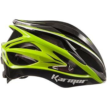 KARMOR(カーマー) ASMA JCF公認 サイクリングヘルメット L ブラック+ライトグリーン