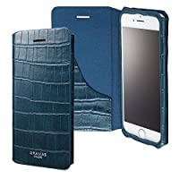 """GRAMAS COLORS""""EURO Passione 3"""" Leather Case for iPhone 8/7/8Plus/7Plus (iPhone 8/7, Navy) GRAMAS COLORS iPhone 8/7/8Plus/7Plus 手帳型レザーケース クロコダイル革 CLC2176/2186P"""