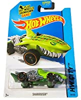 HOT WHEELS STREET BEASTS 2015 RELEASE GREEN SHARKRUISER DIE-CAST