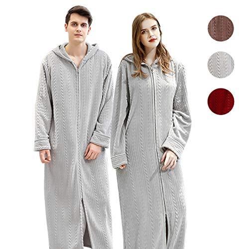 着る毛布 部屋着 ガウン 毛布 レディース メンズ 着るもうふ 冬服 室内服 フランネル ルームウェア 洗える フード ポケット付き フード付きヒートウォーム ふわふわ保温 男女兼用 120cm 130cm 140cm xl ライトグレー
