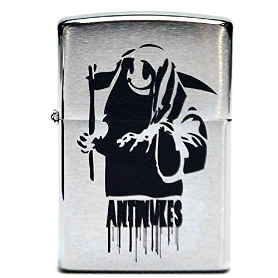 融合最後のハロウィンBanksy バンクシー 刻印 zippo 200 ライター Anti Nukes 反原発 核反対 オイルライター デザイン グラフィティアート キャンバス アート