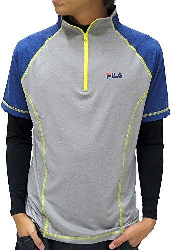 (フィラ) FILA アンダーシャツ メンズ スポーツシャツ コンプレッション セット スポーツインナー ハーフジップ ブランド 4color