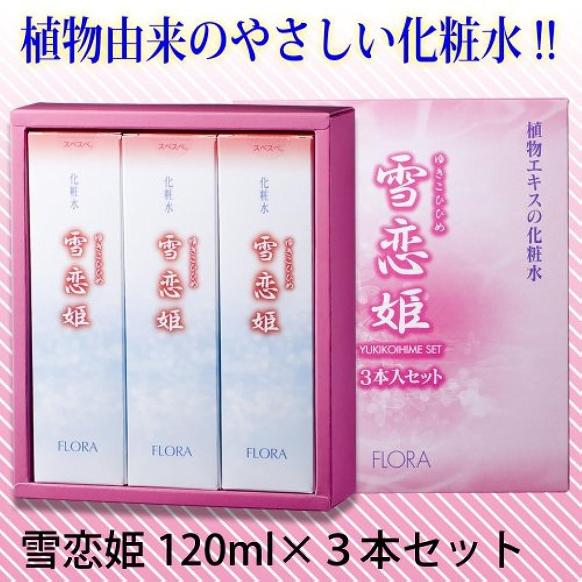 列挙する小説テープ雪恋姫 化粧水 120ml×3本セット