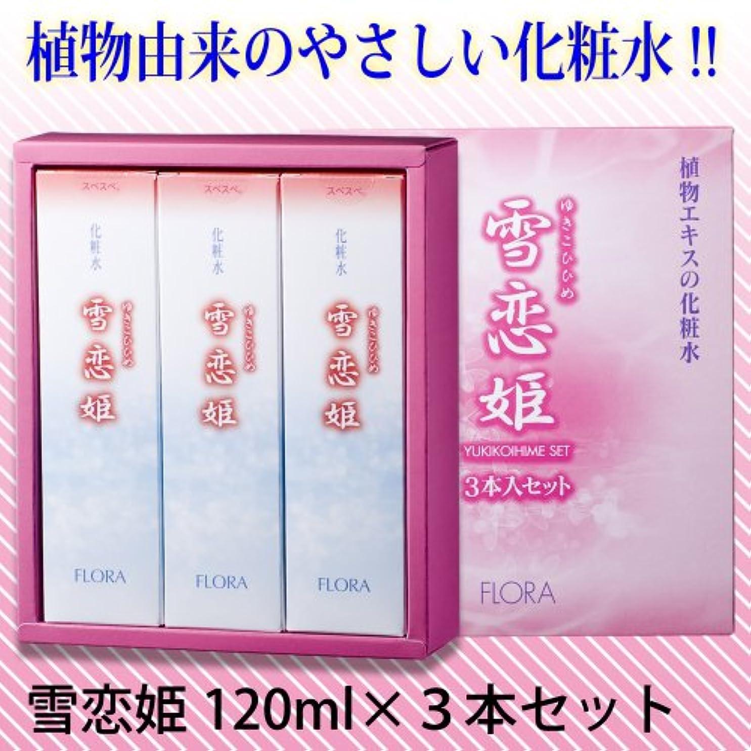 休戦うまれた上雪恋姫 化粧水 120ml×3本セット
