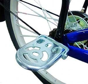 サイクルステップ(折りたたみ可能) 子供用足置き ■通常2人乗り禁止 ■変則ギアガード ◇2個セット