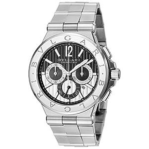 [ブルガリ]BVLGARI 腕時計 ディアゴノ ブラック文字盤 DG42BSSDCH メンズ 【並行輸入品】