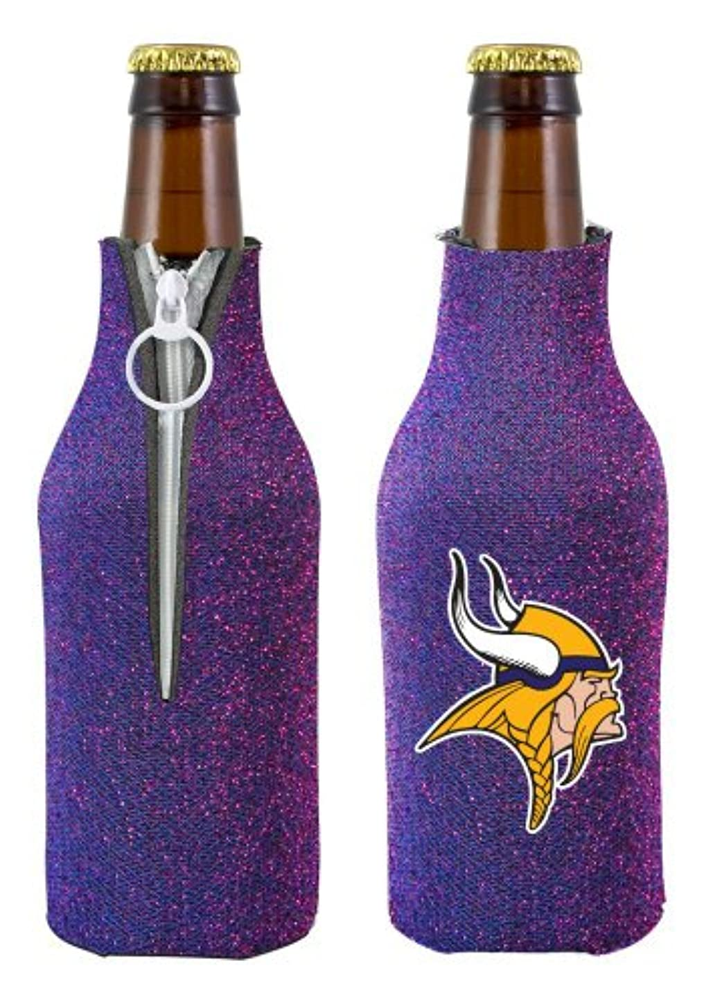つづり伝染病砂Caseys 8686755588 Minnesota Vikings Bottle Suit Holder - Glitter
