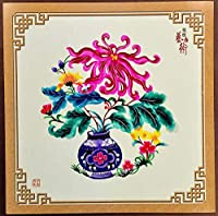 China Intangible Cultural Heritage Chinese Handmade Wooden framework Paper-Cut Flower