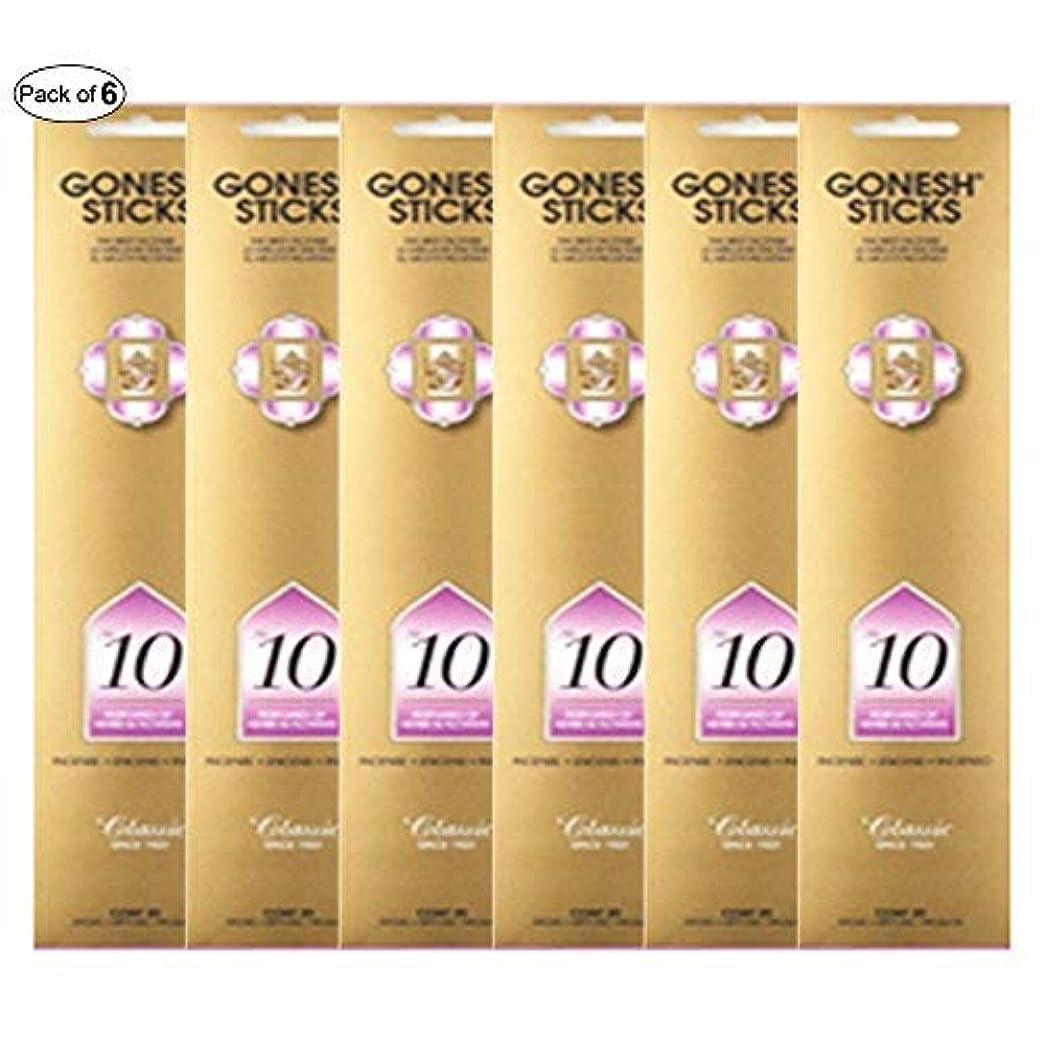 限定ファックスボルトGonesh Incense No 10 - Perfumes of Herbs &花( 20 Sticks in 1パック) (パックof 6 )