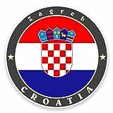 2 x 10cm クロアチア - ノートPCやタブレット用ビニールステッカー #9526