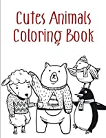 Cutes Animals Coloring Book: coloring pages,Christmas Book for kids and children (teens design)