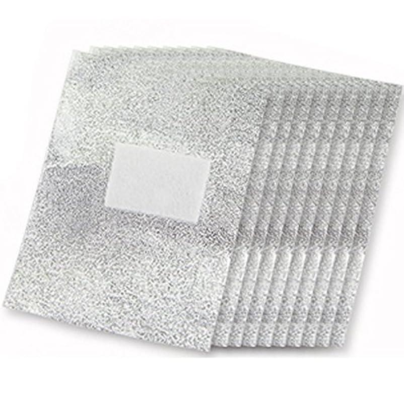 スクレーパーレンダー瀬戸際SODIAL 100xアルミフォイルネイルアート 浸すアクリルゲルポリッシュネイルリムーバー