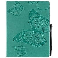 YHUISEN 蝶の花の花柄PUレザーウォレットスタンドタブレットケースfor新しいiPad Pro 12.9インチ2018年リリース(3rd Gen) (色 : 緑)