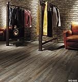 SANGETSU フロアタイル 床材 木目調 ウッドシリーズ スモークドオーク 24枚セット 型番: WD-600 01S