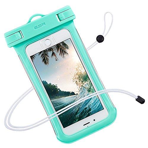防水ケース ESR、ESR IPX8(防水規格) 防水カバー 入れたままタッチ操作 指紋認証(iPhone 7以降の機種でロック解除可) 対応機種: iPhone X/8/8 plus 7/7plus/6s/6/6plus/, Samsung Galaxy S8/S8Plus/S7/S6 Edge その他6インチまでのスマートフォン (ミントグリーン)