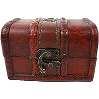 MAJESTIC 宝箱 レトロ 木製 アンティーク 小物入れ 小箱 海賊 財宝 オシャレ インテリア 気分は大海賊 (小サイズ)