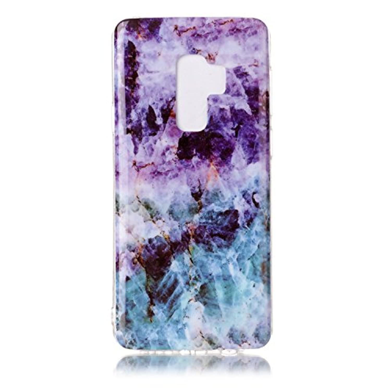 Samsung Galaxy S9+携帯電話ケース、アンチスリップ、ウルトラスリム&軽量、TPU素材で作られた 柔らかい ケース、Galaxy S9+用の便利なバックケーススタイルカバー,大理石の模様