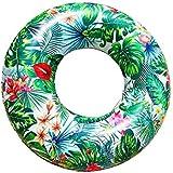 guobang 大人用浮き輪 スイミングリング フロート インフレータブル 熱帯雨林 グリーン 暑さ対策 水泳玩具 空気入れ付き プール/海/海水浴/水遊び 男女兼用
