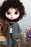 (ドーリア)Dollia ブライス 1/6ドール用 アウトフィット ジャケット コート あずき色 千鳥格子 ネオブライス ドール 人形 (千鳥格子)