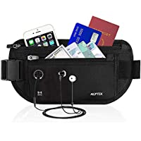 AGPTEK Hiking Waist Packs, Fanny Pack Money Belt with RFID Blocking, Adjustable Water Resistant Running Belt Bumbag for Men Women Outdoors Workout Traveling Running,for iPhone Samsung Phone Cards Money Passport