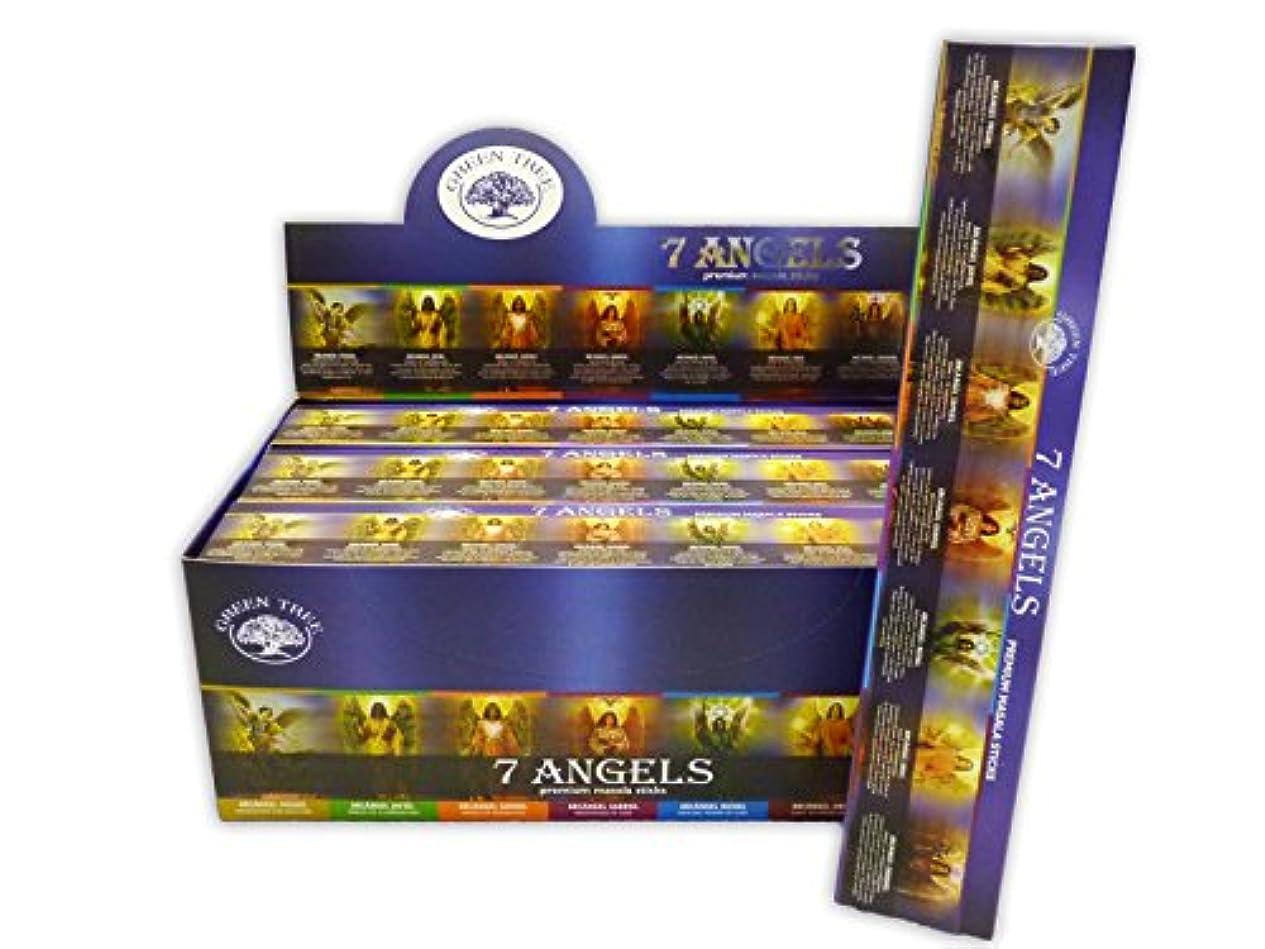 アトム疎外暴露グリーンツリー7 Angels Masala Incenseボックス12のパック