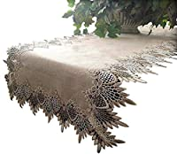 Lace 140cm Table Runner Dresser Scarf Neutral Earth Tones European Lace