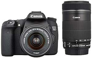 Canon デジタル一眼レフカメラ EOS 70D ダブルズームキット EF-S18-55 IS STM/EF-S55-250 IS STM付属 EOS70D-WKIT