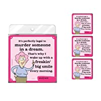 Tree-Free Greetings NC37842 Aunty Acid 4-Pack Artful Coaster Set Murder [並行輸入品]