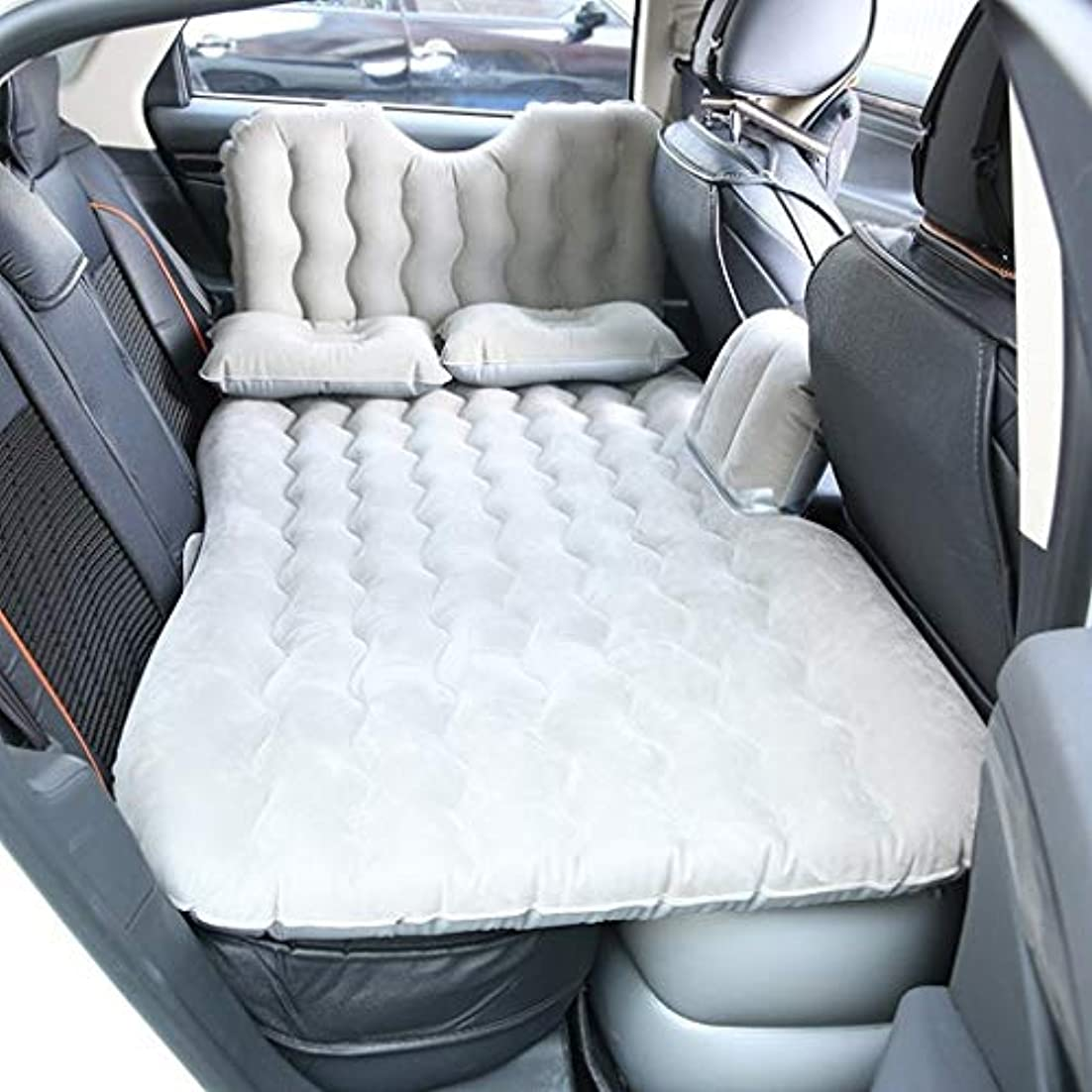 ミケランジェロジャケットディンカルビルSYLOZ 車のインフレータブルベッド車のマットレス車の寝台パッドインフレータブルベッド後列旅行ベッドエアベッド旋盤 (Color : Gray)