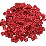 【kiki】フラワーシャワー 造花 花びら 飾り付け セット ウエディング パーティー 結婚式 誕生会 二次会 (ワインレッド1色, お得1200枚)