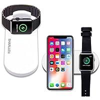 Sharllen アップルウォッチ 充電器 Qi 急速 ワイヤレス充電器 Apple Watch充電器 iwatch AirPowerマット 7.5W ワイヤレスチャージャー 置くだけ充電 Apple watch series 2/series 3/iPhone X /iPhone 8 / Galaxy S9 /S9 Plus /Note8 /S8 /S8 Plus / S7 /S7 Edge / S6 Edge Plus 対応…