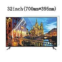 LSYOA つや消しアンチブルーライト テレビ画面プロテクター、スーパークリア 目の保護 テレビ保護パネル 泡なし スクリーン保護フィルム、LCD、LED、OLED、QLED 4K HDTV向け,32in