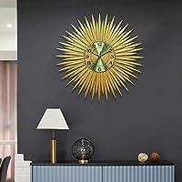掛け時計 壁掛け時計ミュートリーフ72 * 72センチメートル電子クォーツラグジュアリーモダンリビングルームホームジュエリーファッション人格アート JPYLY