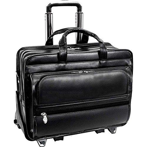 (マックレーンユーエスエー) McKlein USA メンズ バッグ キャリーバッグ Leather 17' Detachable Wheeled Laptop Case 並行輸入品