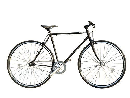ピスト バイク ブリュアン(bruant) 700C シングルスピード 自転車 マット ブラック YONCa 送料無料 クロモリ フレーム&フォーク フリー & 固定ギア