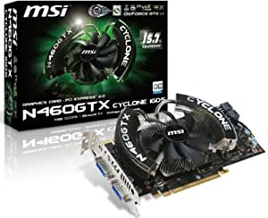 MSI グラフィックボード for NVIDIA N460GTX Cyclone 1G OC/D5