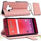 F.G.S ピンク HTC J butterfly HTV31 ケース HTV31 カバー HTV31 手帳型 ケース カードセット付き スタンド機能付き ストラッププレゼント F.G.S正規代理品