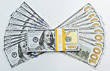 GOYARD Prop Money–新しいスタイルドル100s–品質の向上、より本物–Full印刷両面スタック$ 10000–最高品質の市場の、Designed for映画、テレビ、ビデオ、広告、再生、トレーニング