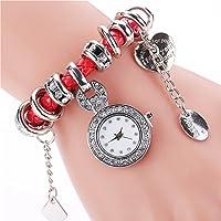 高級ファッションハートバンドドレス腕時計_Red
