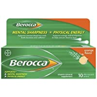 Berocca Mental Sharpness + Physical Energy Orange Flavor Tablets by Berocca