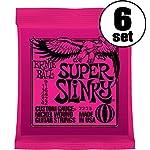 【国内正規輸入品】ERNIE BALL アーニーボール エレキギター弦 #2223 SUPER SLINKY 6SET スーパー・スリンキー 6セット